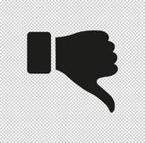 Thumb down gesture - black vector icon. Thumb down gesture - vector icon, design icon or logos for business, web royalty free illustration