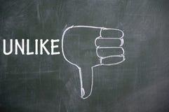 Thumb  down gesture symbol Stock Images