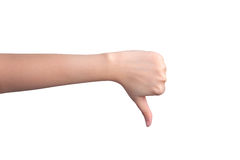 Thumb down hand isolated Royalty Free Stock Photo