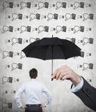 Thumb down rain Stock Photo