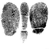Thumb and finger print. Illustration Royalty Free Stock Photo
