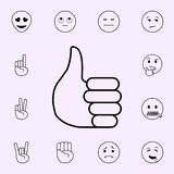 Thumb icon. Emoji icons universal set for web and mobile. On color background vector illustration