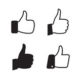Thumb icons set stock illustration