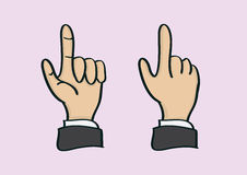 Thumb and Index Finger Hand Gesture in Front and Back View Stock Image