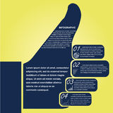 Thumb infographic, design template. This is an infographic template Stock Image