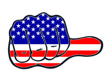 Thumb judgement even America USA pressure Royalty Free Stock Photography