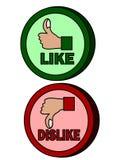 Thumb like dislike icon Stock Photography