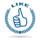 Thumb like symbol Royalty Free Stock Image