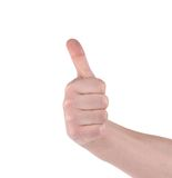 Thumb of man hand. Royalty Free Stock Photography