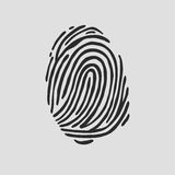 Thumb print fingerprint vector illustration. Eps 10 Stock Image
