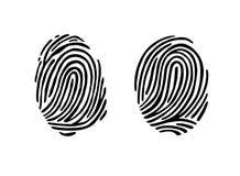 Thumb print fingerprint vector illustration. Eps 10 Stock Photography