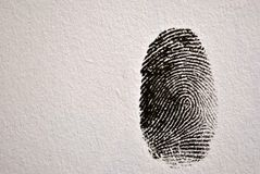 Thumb print Royalty Free Stock Photography