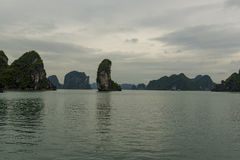 The Thumb. Rock formation on Ha Long Bay known as The Thumb Stock Photography