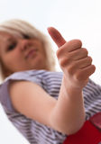 Thumb's up sign Stock Photo