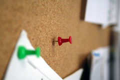 Thumb Tack. Red Thumb Tack ready for a paper to be posted Royalty Free Stock Photography