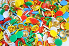 Thumb tacks Stock Photo