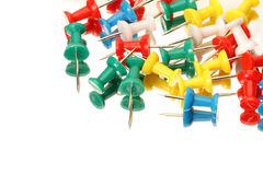 Thumb tacks. Office supplies of colorful thumb tack Stock Images