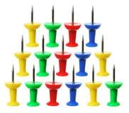 Thumb Tacks. On White Background Royalty Free Stock Image