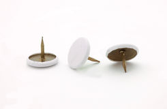 Thumb tacks. Isolated on white background stock photography
