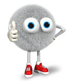 Thumb up!. 3D image of monster toy Stock Images