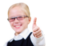 Thumb up. Image of childish hand showing thumb up Royalty Free Stock Image