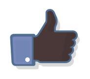 Thumb Up 2 - Black Stock Photo