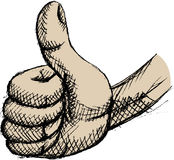Thumb up. Vector illustration of thumb up Royalty Free Stock Photos