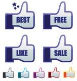 Thumb up. Best choice sign. thumb up gesture illustration stock illustration