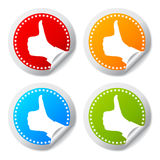 Thumb up. Stickers set illustration Royalty Free Stock Images