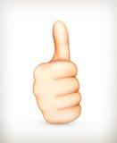 Thumb up. Computer illustration on white background Stock Photos