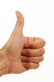 Thumb up. Gesture You got a lucky hit, thumb up Stock Photos