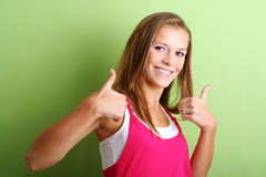 Thumb up ! Stock Image