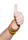 Thumb up. Isolated on white background Royalty Free Stock Photography