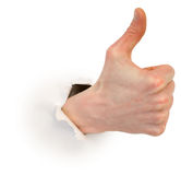 Thumb up Royalty Free Stock Photography