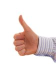 Thumb Up. Businessman's Hand With Thumb Up Stock Images