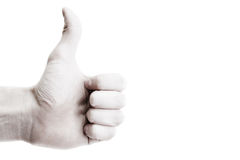 Thumb up for... Royalty Free Stock Photos