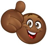 Thumb up African emoticon Royalty Free Stock Photography
