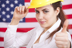 Thumb up for american economy Royalty Free Stock Images