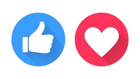 Free Thumb Up And Heart Icon. Royalty Free Stock Photography - 154036117