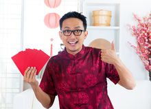 Thumb up Asian Chinese male Stock Photography