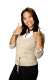 Thumb Up Asian Female Royalty Free Stock Image