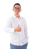 Thumb up Asian man Royalty Free Stock Images