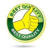 Thumb Up Best Quality Logo Illustration Royalty Free Stock Images