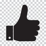 Thumb Up. Black icon. Vector illustration. Thumb Up. Black icon on a transparent background. Vector illustration stock illustration