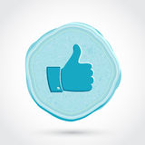 Thumb up blue icon Stock Images