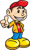 Thumb up Boy. An happy boy smiling and doing the thumb up gesture Royalty Free Stock Photo
