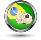 Thumb up brazil icon Royalty Free Stock Photo
