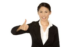 Thumb up from business woman Stock Image