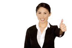 Thumb up from business woman Royalty Free Stock Image