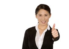 Thumb up from business woman Royalty Free Stock Photography